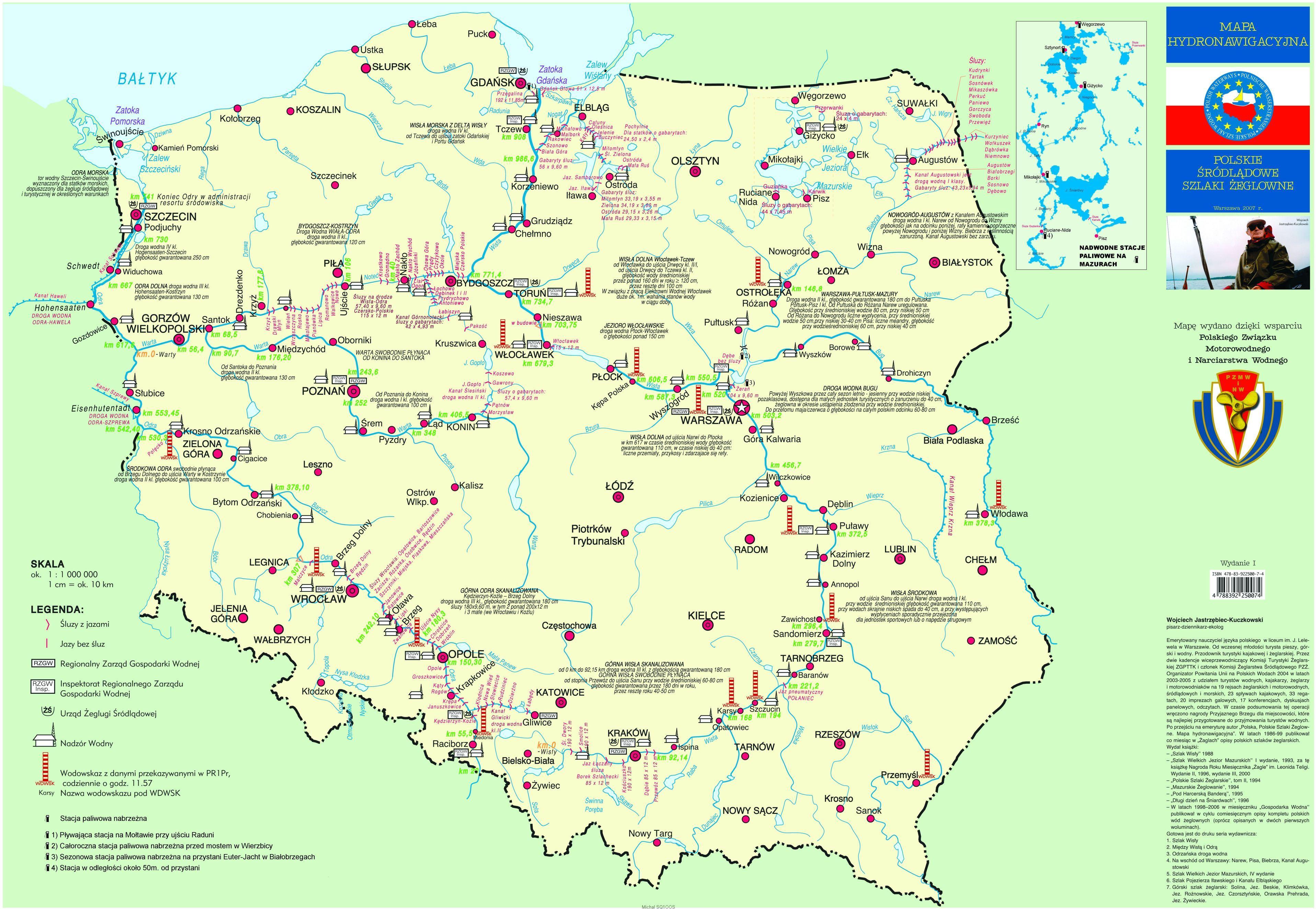 Mapy Szlakow Zeglownych Sq1oos Moje Wodne Pasje I Radioamatorstwo