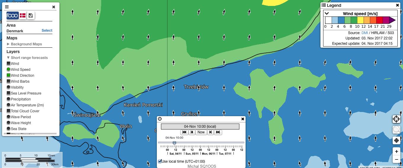 Widok na prognozę pogody FCOO.DK