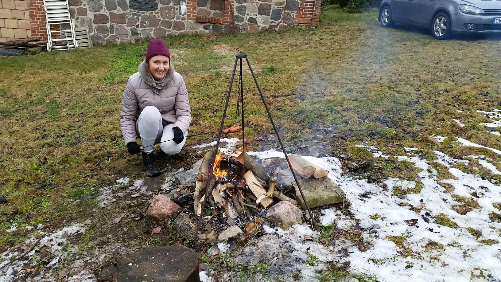 Robimy sobie noworoczne ognisko w Gądnie