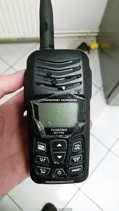 Ręczny radiotelefon firmy Standard Horizon