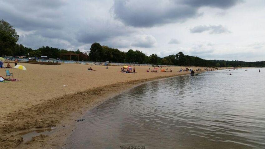 Plaża nad jeziorem Helenesee