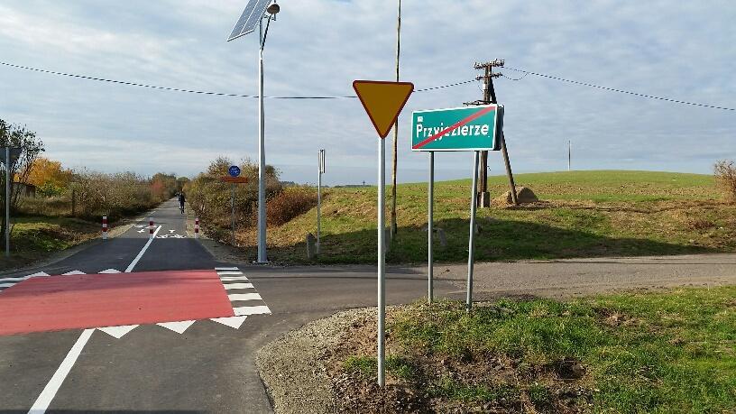 Odcinek drogi rowerowej w Przyjezierzu