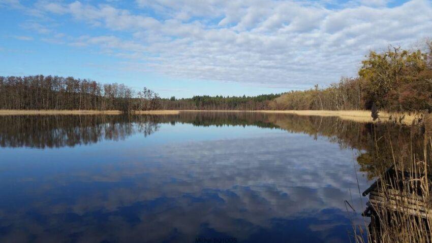 Widok na Jezioro Ostrów