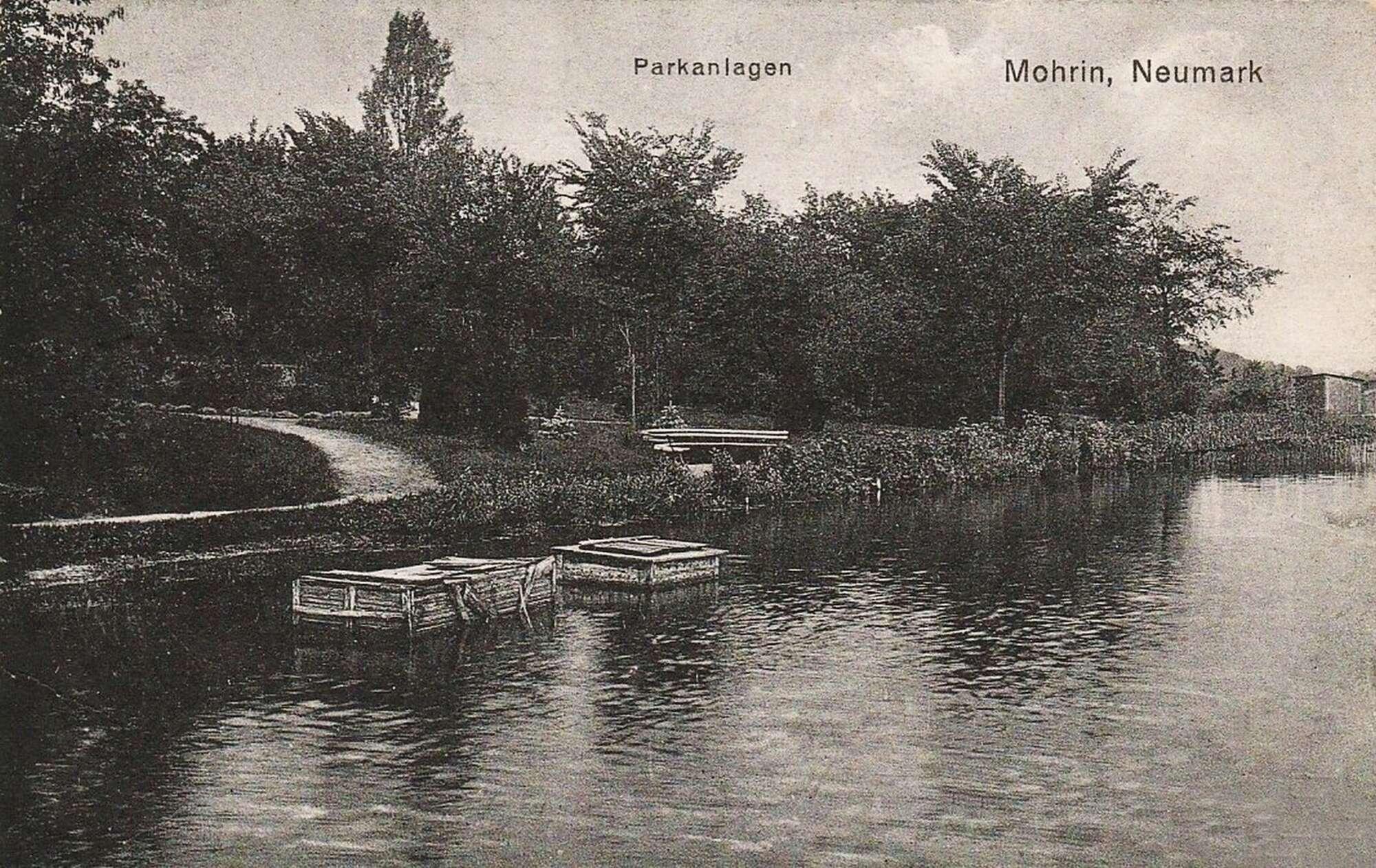 Historyczne zdjęcie jeziora w Moryniu