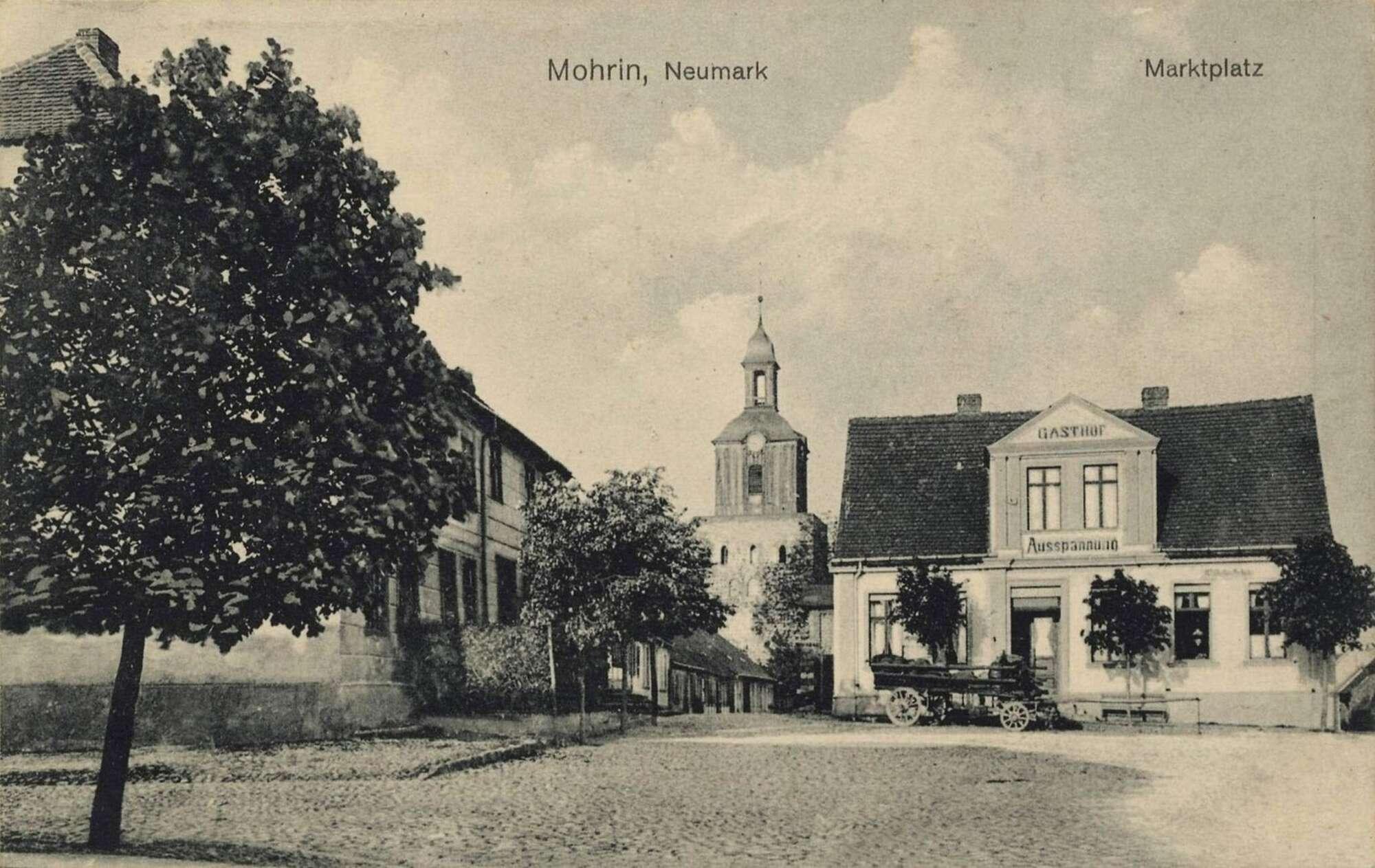 Historyczne zdjęcie rynku w Moryniu